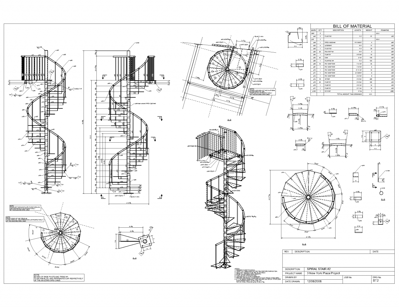 Picture of: Spiral Staircase Plan Drawing Advanced Detailing Corp Steel Stairs Home Plans Blueprints 3855