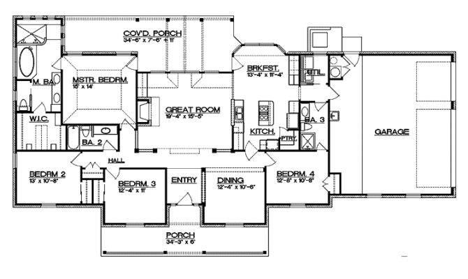 Split Bedroom Ranch Home Plan Architectural Designs