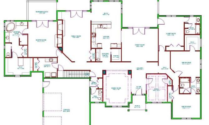 Split Bedroom Ranch Home Plans Find House