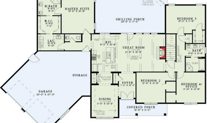 Split Floor Plans Angled Garage