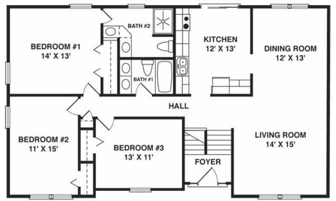 Split Foyer House Plans Smalltowndjs