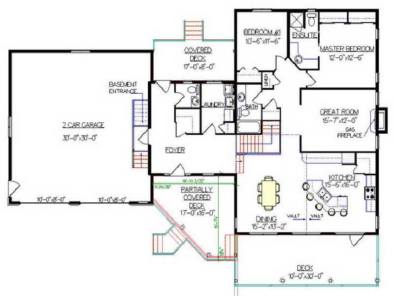 Split Level House Floor Plans Home Plans Blueprints 29175