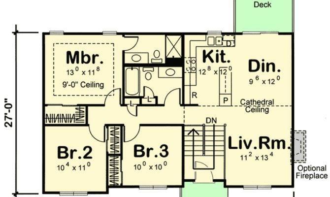 Split Level House Plan Open Layout