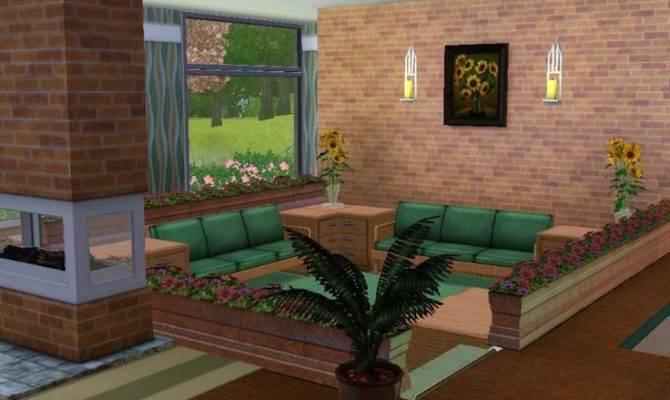Split Level Living Room Sims Houses Pinterest