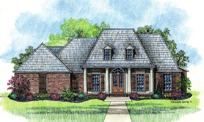 Springfield Country French Home Plans Louisiana House