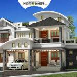 Sqft Bhk Modern Attractive Villa Design Homeinner