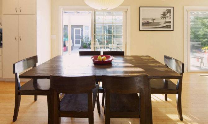 Square Dining Room Design Makes More Spacious