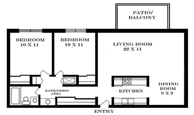Square Feet Apartment Floor Plan House Design Plans