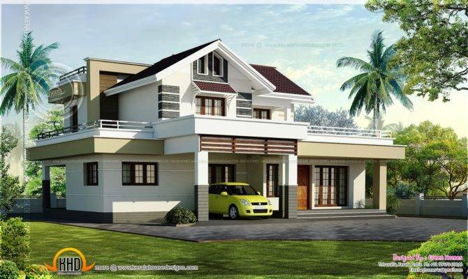 Square Feet Bedroom House Design Kerala Home