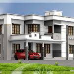 Square Feet Flat Roof House Design Plans
