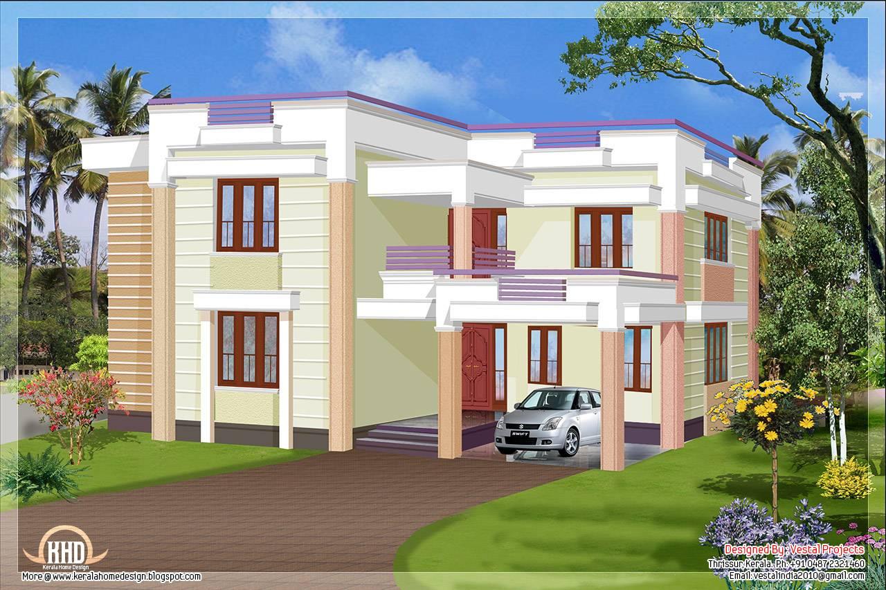 Square Feet Flat Roof House Design Plans Home Plans Blueprints 59410