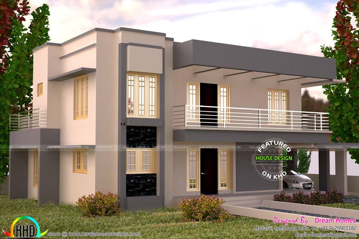 Square Feet Flat Roof House Plan Kerala Home Design Home Plans Blueprints 100092