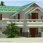 Square Feet Green Roof House Kerala Home Design Floor Plans