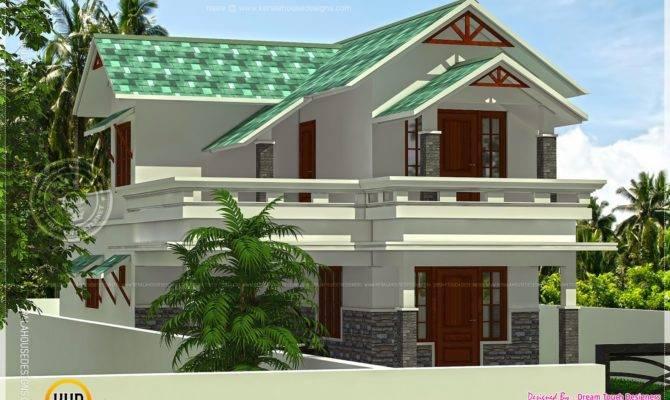 Square Feet Green Roof House Kerala Home Design Floor Plans