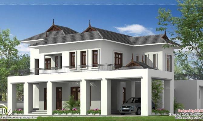 Square Feet House Elevation Kerala Design Idea