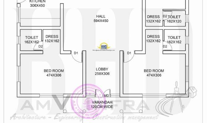 Square Feet House Floor Plan Sketch Kerala