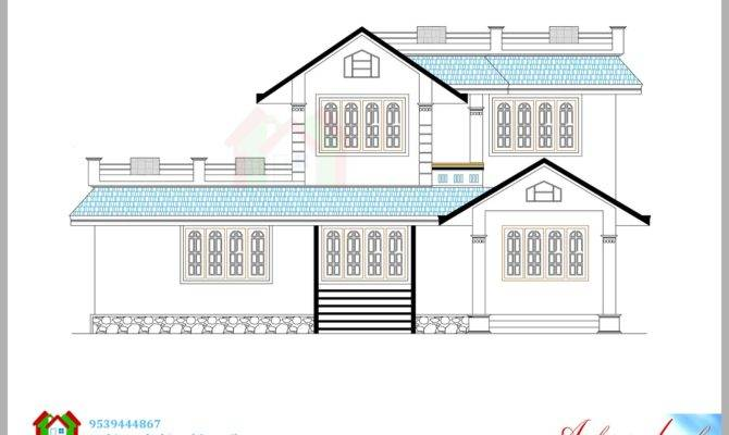 Square Feet House Plan Its Elevation