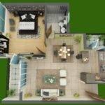 Square Feet House Plan Tiny Pinterest