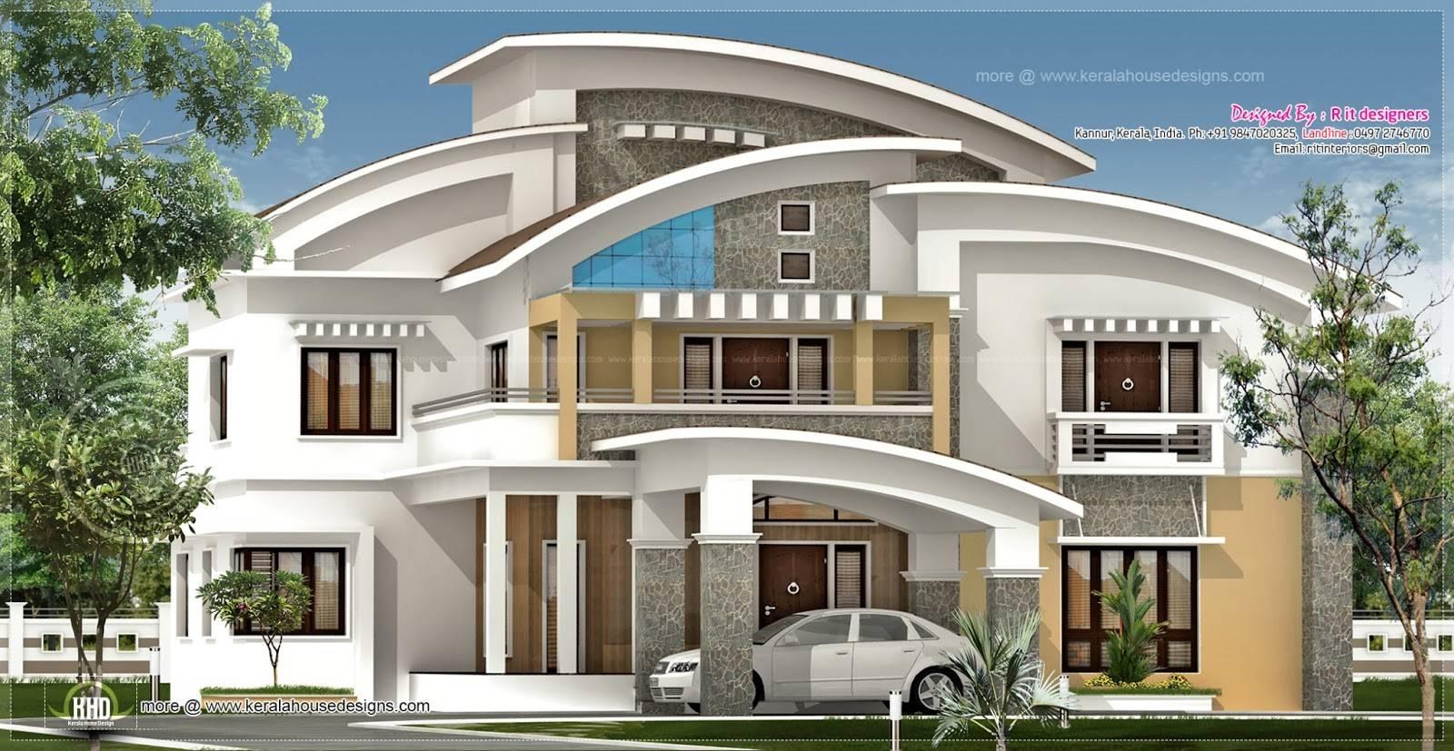 Square Feet Luxury Villa Exterior House Design Plans   Home Plans ...