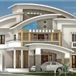 Square Feet Luxury Villa Exterior Kerala Home Design Floor Plans