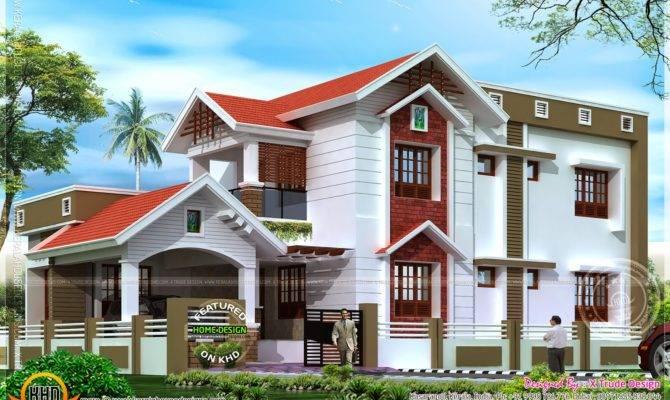 Square Feet Nice House Renderings Kerala Home