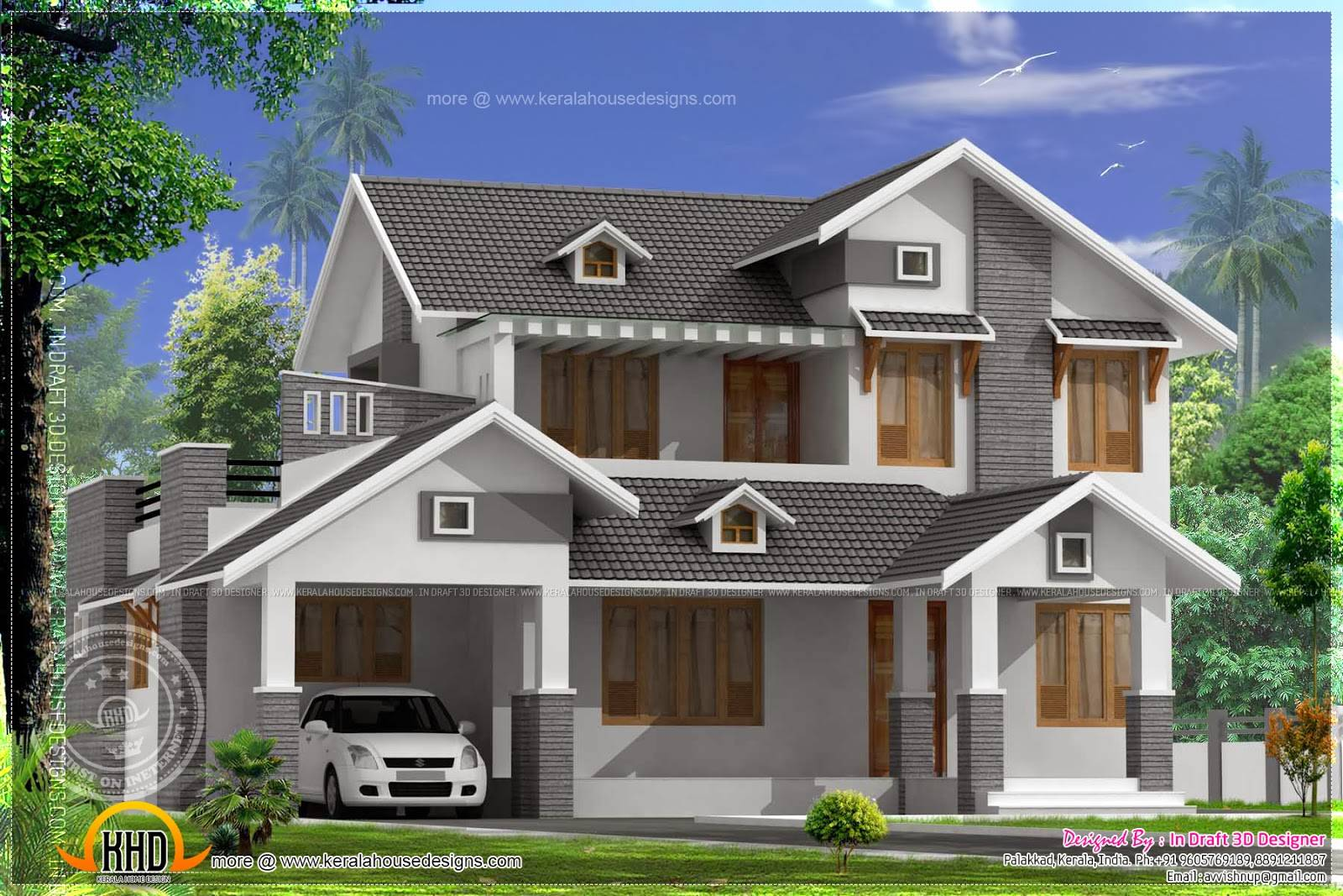 Square Feet Sloping Roof Home Indian House Plans Home Plans Blueprints 13204