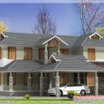 Square Feet Sloping Roof House