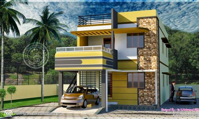 Square Feet Tamilnadu Style House Exterior Kerala Home Design
