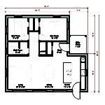 Square Foot Energy Efficient Prefab House Plan Logic