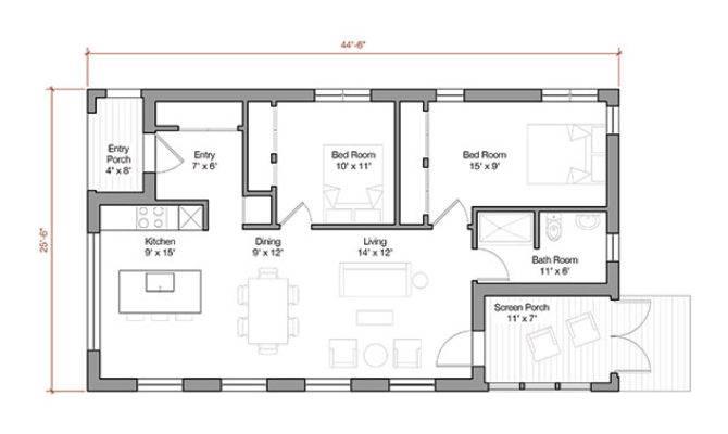 Square Foot Energy Efficient Prefab House Plan