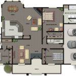 Square Foot Open Floor Plan Further Bedroom Craftsman House Plans