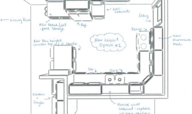 Square Kitchen Layout Decor Ideas