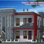 Square Meter Modern Villa Elevation Kerala Home Design Floor