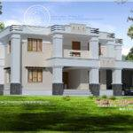 Square Roof Home Elevation Feet Kerala Design