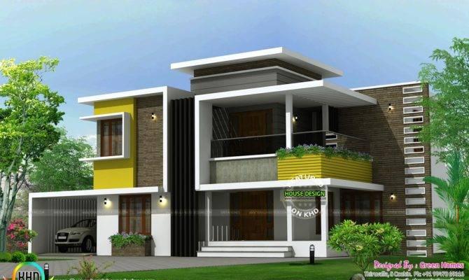 Square Yards Box Type Contemporary Home Kerala