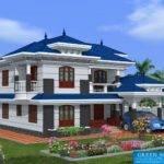 Square Yards Kerala Model Home Design Green Homes Thiruvalla