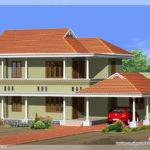 Square Yards Kerala Style Bedroom Villa Design Vismaya