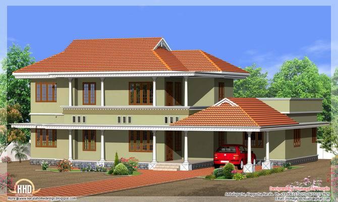 Square Yards Kerala Style Bedroom Villa Design Vismaya