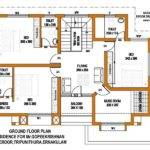 Squre Feet Home First Floor Plan Kerala India
