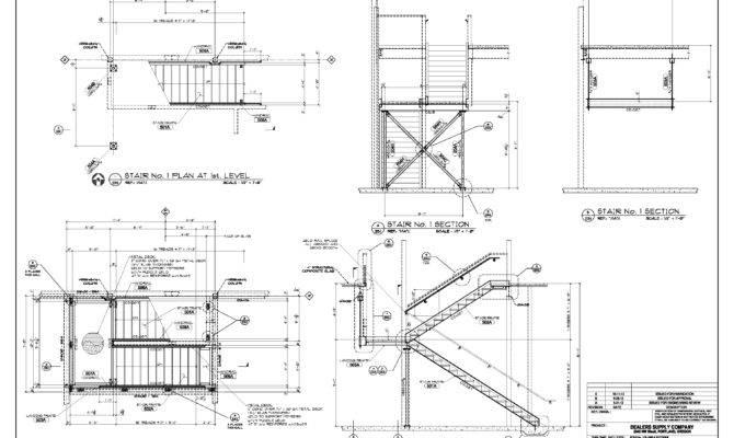 Stair Detail Drawings Pinterest