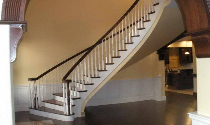 Staircase Curved Design Unique Style Parts