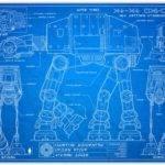 Star Wars Blueprint Style Print Knerdkraft