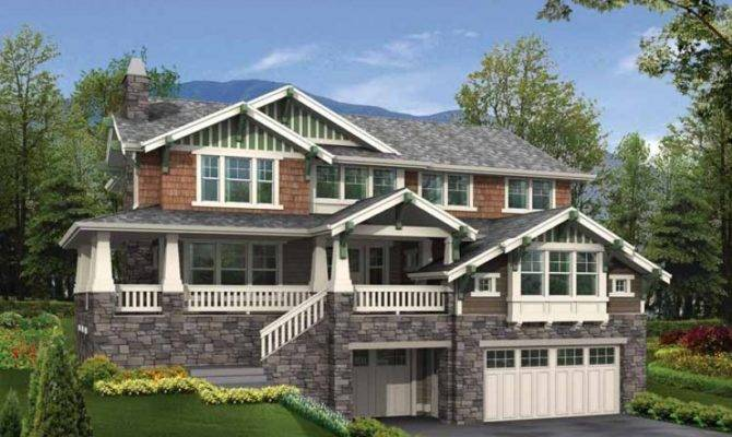 Steep Sloped Lot House Plans Car