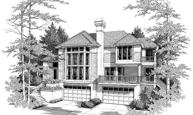 Steeply Sloped Lot Plan Car Garage