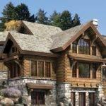 Stone Chimneys Log Cabin Home Homes Plans