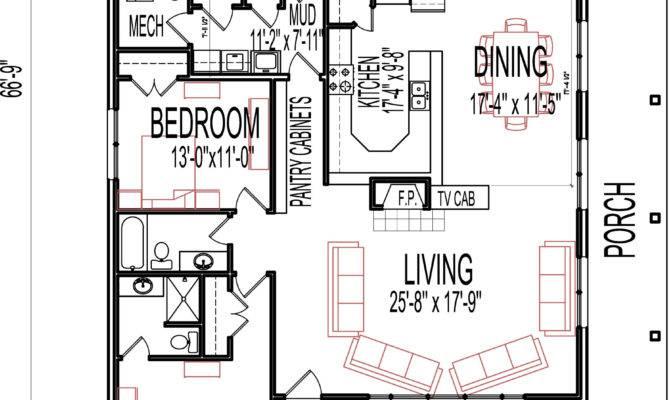 Stone Cottage House Floor Plans Bedroom Single Story