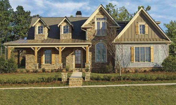 Stone Farmhouse Architectural Designs House