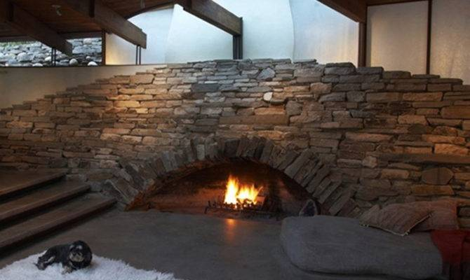 Stone Fireplace Ideas One Total Pics Contemporary Mountain House