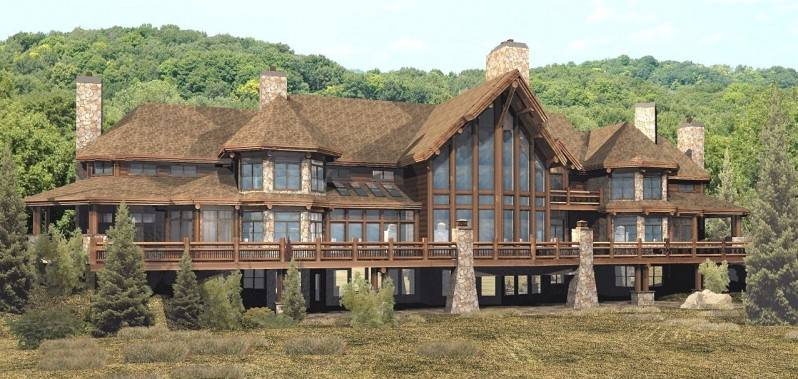 Log And Stone Homes Inspiration Home