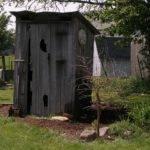 Stone House Primitives Outhouse Garden